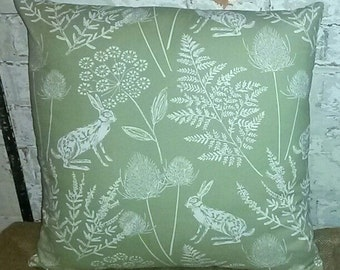 Beautiful Quality Handmade Soft Scatter Cushion Rabbit Floral Pattern Home Decor