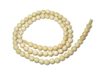 Vintage Chinese Export Bone Bead Necklace