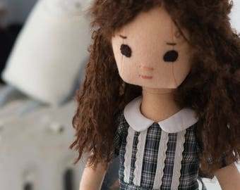 Rag Doll with Retro Wardrobe