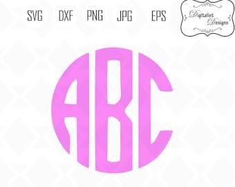 circle monogram svg, circle monogram font, monogram letters, svg fonts, svg bundle, silhouette, vector, cricut cut files