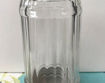 Vintage Crystal Glass Bullet Sugar Shaker