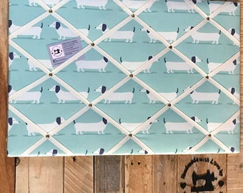 Fabric Notice Board - Daschund