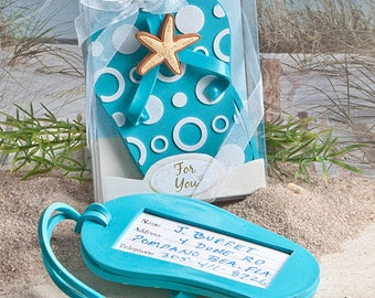 Flip Flop Luggage Tag - Beach Wedding Bridal Shower Party Favor 20-72 Qty  FC4763