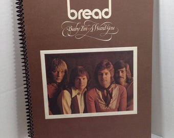 Bread Baby I'm A Want You Album Cover Notebook Handmade Spiral Journal Blank Composition Book
