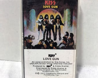 Kiss Love Gun cassette tape 1977 Hard Rock