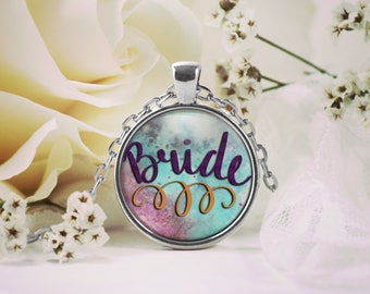 Gift for Bride, Bride to Be Pendant Necklace, Gift for Engagement Party, Keepsake Jewelry Gift,  Gift for Her Wedding Planning