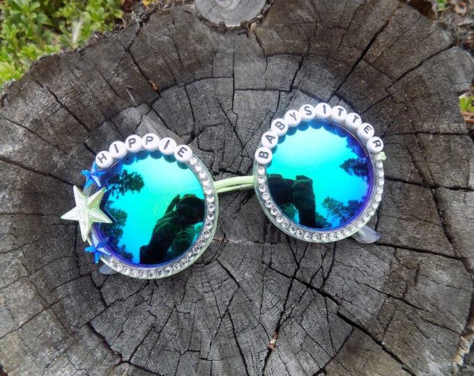 Papadosio Hippie Babysitter hand decorated sunglasses