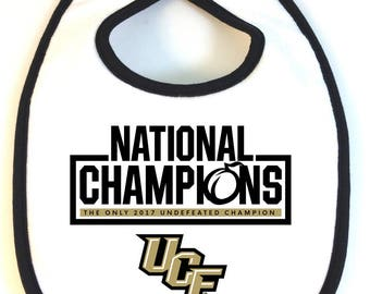 UCF Central Florida Knights CHAMPIONS Baby Bib