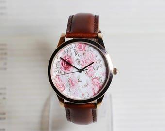The secret garden,Floral watch,wrist watch, women Watch, Leather Watch ,Birthday gift,special gift