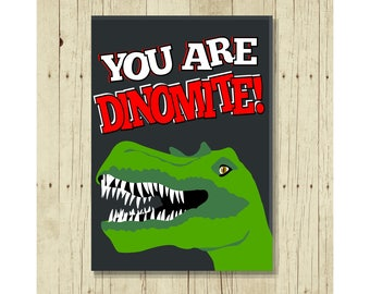 You Are Dinomite Magnet, Funny Birthday Party Favor, Dinosaurs, Refrigerator, Gifts Under 10, For Boys, For Girls, Reptile, T Rex, Puns