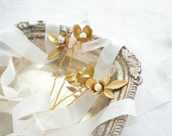Quartz Bridal Hair Accessories, Quartz Hair Pins, Boho Wedding, Boho bride, Bridal Hair Jewelry, Gold Wedding, Wedding Hair, Bridal Hair