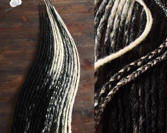 Black pearl 9 x double ended dreads synthetic dreads accent kit