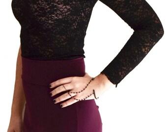 One-shoulder Lace Milonga Top | Milonga lace top, Crop-top, Tango Clothes, Argentine Tangowear