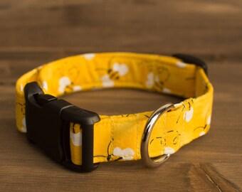 Yellow Bee Dog Collar, Yellow Dog Collar, Bumble Bee, Dog Collar, Dog Collar, Pet Accessories