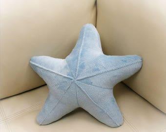 Starfish Shaped Pillow, Toy Pillow, 3D Pillow, Nautical Decor, Beach House Decor, Aqua, Pink pillow