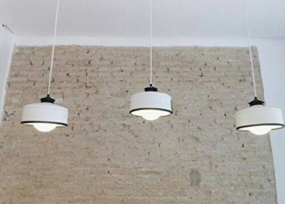 Hanging / pendant / ceiling lamp,  eco friendly - handmade : recycled from  coffee can !