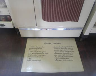 Chocolate chip cookie recipe, canvas floorcloth