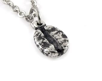 Coffee Bean Necklace, Caffeine Jewelry, Nature Pendant, Food Charm