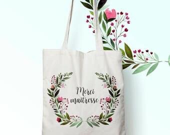 W117Y tote bag thank you mistress, custom tote bag, tote bag, bag for mistress, cotton bag, computer bag, shopping bag