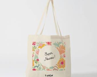 X462Y tote bag nanny, cotton tote bag nanny, tote bag, diaper bag, tote bag cotton, bag was, tote bag summer cotton tote bag
