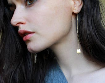 Shoulder Duster Earrings Long chain earrings dainty gold earrings lightweight earrings hypoallergenic earrings modern jewelry gold filled