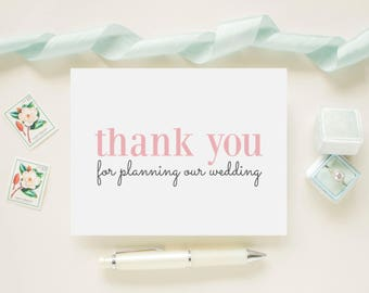 Wedding Card for Wedding Coordinator or Planner On Your Wedding Day - Thank You For Planning Our Wedding - V004