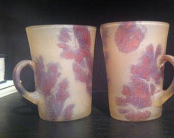 Beautiful Art Glass Mugs or Cups a Rare Vintage Treasure Collectibles