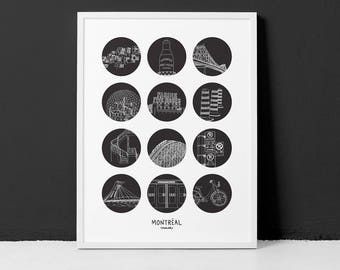 Montreal 18x24 Poster / Highlighting the urban side of Montreal city