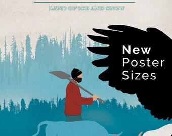 Minnesota Paul Bunyan And Babe Poster Digital Art Print