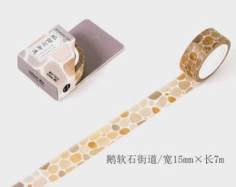 cobblestone street washi tape