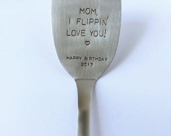 hand stamped spatula turner mom birthday gift - Best Gift For A Chef