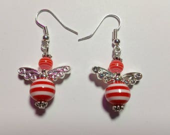 "Earrings ""Candy-Angels Red"""