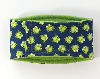 Frogs Male Dog Belly Band, dog diaper, belly bands by trina, dog wrap
