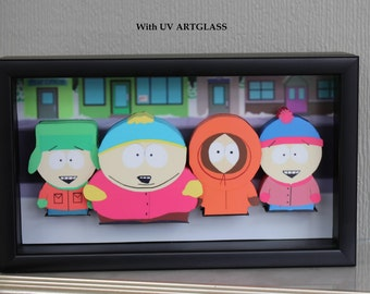 South Park, Eric Cartman, Kyle Broflovski, Kenny McCormick, Stan Marsh, Rocky Mountains, 3D Art, Pop up, Gift for Teenagers, Adults Cartoons