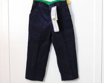 3T: Florence Eiseman Navy Corduroy Pants, New With Tags