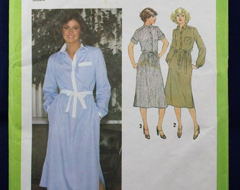 Shirtdress Sewing Pattern in Size 10 - Simplicity 9017