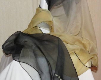 Two Beautiful Silk Chiffon Scarves From Jaeger