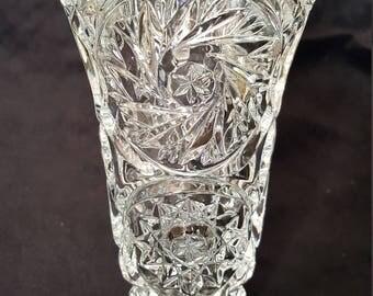 Bud Vase ~ Pressed Glass
