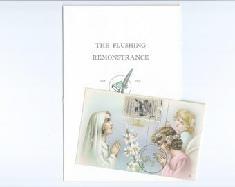 N.G. Basevi Religious Freedom in America, 300th Anniversary of the Flushing Remonstrance, First Day Holy Card and Program  Flushing, NY 1957