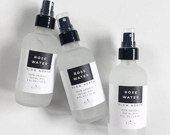 Organic Rose Water Facial Mist