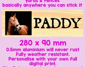 PERSONALISED STABLE DOOR plaque sign Equestrian Horse  sc 1 st  Etsy & Door plaque | Etsy pezcame.com