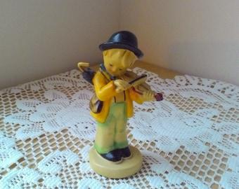 Vintage Handpainted Hummel Reproduction LITTLE FIDDLER Figurine Boy with Violin Fiddle