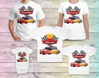 Cars Birthday Shirt, Lightning Mcqueen Family Birthday Tshirt, Cars Matching Shirts, Cars Mommy Birthday Party, Cars Daddy Birthday Shirt