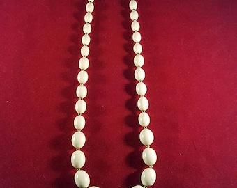 Monet White Beaded Necklace