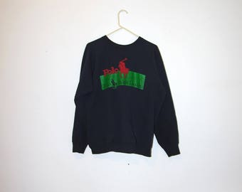 90's BOOTLEG POLO black sweatshirt