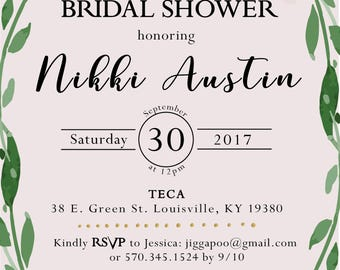 Floral Pastel Bridal Invitation