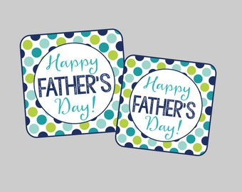 Father's Day Tags or Cupcake Toppers. Two Sizes, Many Uses! Instant Digital Download. Happy Father's Day Gift Tags
