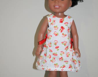 Party Dress - Fits 14 inch dolls - fits Wellie Wishers