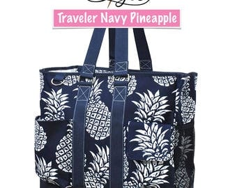 The Traveler Large Beach Tote Work Tote Travel Tote Bag Gift Custom Embroidery Design Available