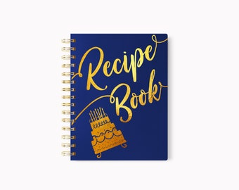 Recipe book, Book for recipes, Foil recipe book, Gold recipe book, Recipe Books, Elegant recipe book, Gift for mom, Mothers day gift